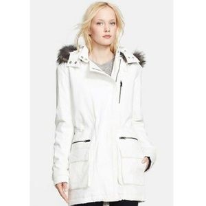 Vince Long White Parka Coat